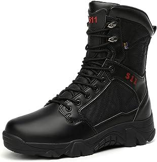 YOWAX Bottes de Chasse pour Homme Tactique Militaire de Combat Boots Bottes de Randonnée Chaussures de Trekking Extérieure...