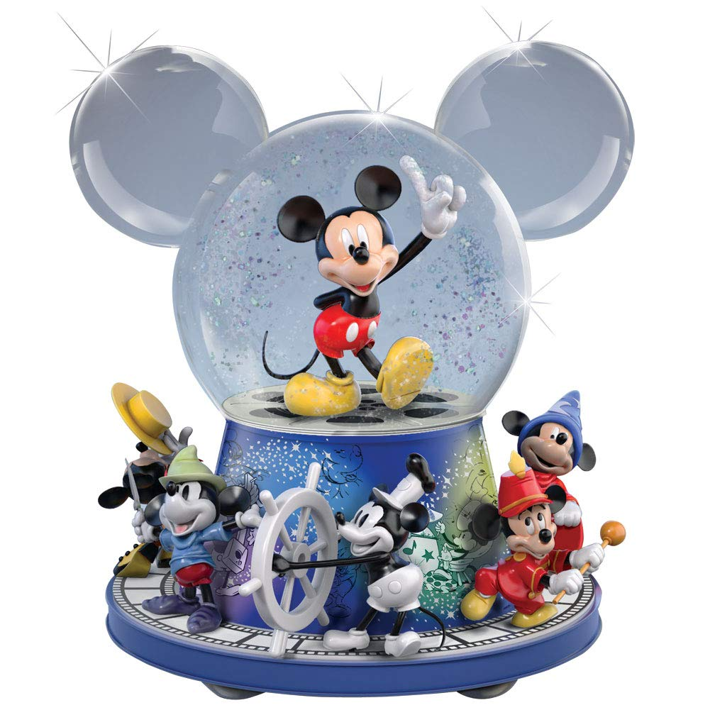 Image of Rotating Disney Mickey Mouse Musical Water Globe