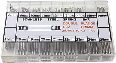 パーツ 時計 ベルト コマばね棒 バネ棒 18サイズ 8mm~25mm 各約15本[HS107]
