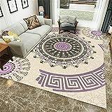 Alfombra Alfombra habitacion Juvenil Sala de Estar Alfombra púrpura Alfombra Decorativa geométrica Circular Floral patrón habitación Juvenil Alfombra Alfombra habitacion 160*200cm