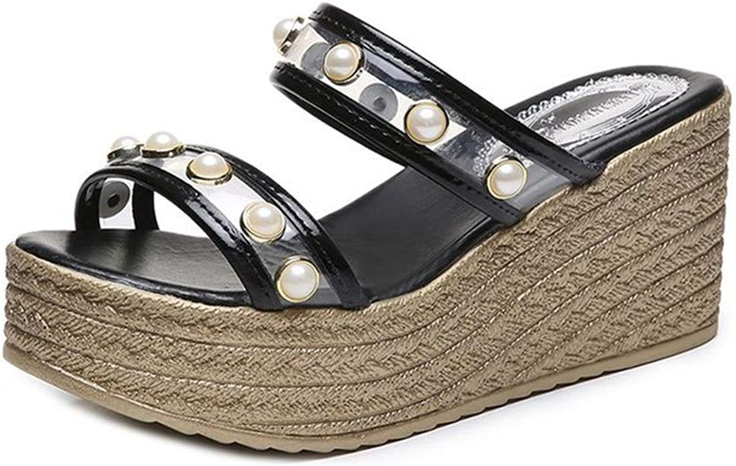 Sandals for Women Espadrille Platform Straw Wedge Ankle Strap Open Toe shoes Summer Casual Peep Toe