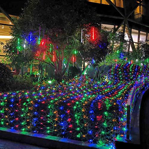 Lichternetz Bunt 6m X 4m 880 LEDs Außen Deko, wasserdichte Lichterkette Licht Vorhang Lampe, Spezielle Beleuchtung für Weihnachten Hochzeit Party Haus Garden