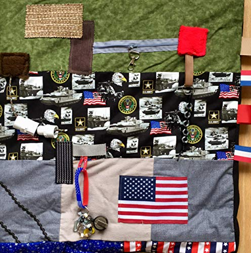 Fidget Blanket for Dementia | Fidget Quilt | Alzheimer's Blanket | US ARMY VETERAN | by Restless...