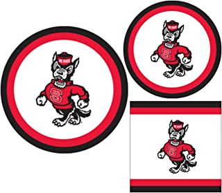 NC State Wolfpack Party Supplies - Bundle Includes Paper Plates and Napkins for 10 People