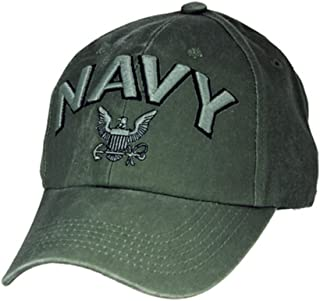 Eagle Crest U.S. Navy Embroidered Cap with Logo. Green