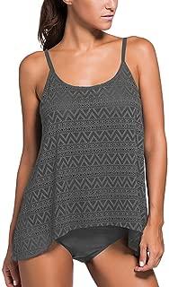 Women's Stripe Tankini Top Bikini Swimwear with Brief Plus Size