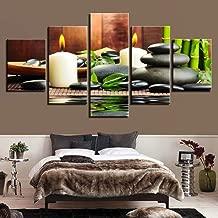 PUHAHA Canvas Wall Art modern style Bedroom Modern Wall Prints 5 Piece Photo Prints Artwork 150x80cm Wood frame