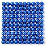 Lot de 100 billes magnétiques multicolores à aimant industriel puissant en néodyme NdFeb 38, pour réfrigérateur, tableau mémo, tableau blanc, mini aimants, diamètre 5 mm, bleu