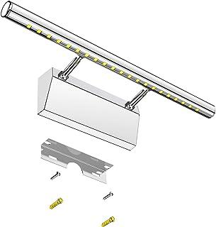 Elekin Lampe de miroir LED 6 W, lampe de salle de bain, lumière pour maquillage, blanc froid 6000 K, lampe murale en acier...
