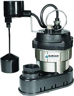 BURCAM 300780V 1/2 HP Cast Iron Submersible Sump Pump 18 Silver