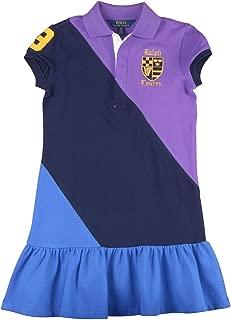 Polo Ralph Lauren Big Girls (7-16) Colorblock Mesh Polo Shirt Dress