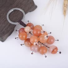 EASYA Fruit Series Alloy Agate Grapes Key Chain Keychain,Orange