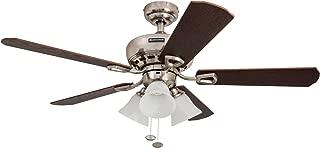 Honeywell Ceiling Fans Honeywell Springhill 50184 Sloped Ceiling Fan, Brushed Nickel
