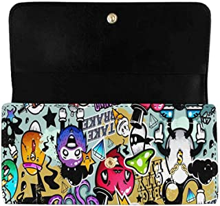 Best graffiti ladies leather purse wallet Reviews