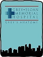 "Seven Times Six Grey's Anatomy Grey + Sloan Memorial Hospital Blanket 46"" X 60"" Flannel Fleece Throw"