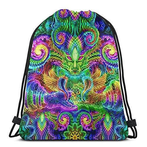 XCNGG Bolsa de Gimnasia Bolsa con cordón Bolsa de Viaje Bolsa de Deporte Mochila Escolar MochilaDrawstring Bag An I For An Eye Tapestry Training Gymsack