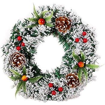 Lif/éUP Guirnalda De Navidad Hecha A Mano Festival Corona De Piceas Simulada Decoraci/ón Del /Árbol De Navidad Guirnalda De La Celebraci/ón De La Boda Corona di abete rosso