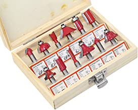 12pcs/set 8mm Shank Wood Milling Cutter Wood Router Bit Sets Tungsten Door Knife Engraving Woodworking Cutting Tool Set With Box