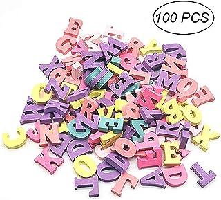 100 Piezas letras de Madera Natural para Manualidades