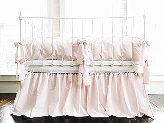 Baby Pink Farmhouse Crib Bedding Set