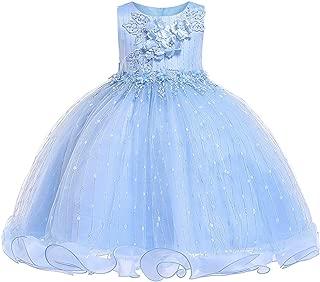 3-12 Years Girls Dresses Flower Pageant Dresses for Girls Sequin Ruffles Tulle Dress
