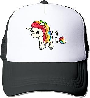 Kexiaos Rainbow Unicorn Baseball Snapback Cap Trainer Hat for Adult