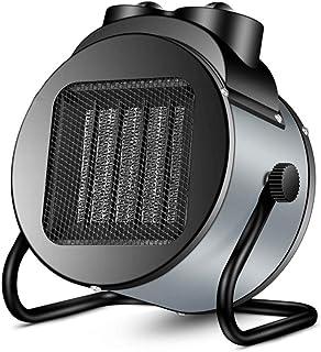 J.SD Calentador 2000W Calefactor Industrial Garage Tilt Ventilador Calentador de Acero Inoxidable protección termostato Control para hogar, Oficina, Escritorio,Black