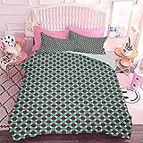 Juego de ropa de cama de 3 piezas geométricas en cuadrados diferentes tonos modernos inusuales retro hipster (3 piezas, California King Size) sin inserto