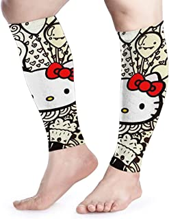 HYHACZX Balloon and Hello Kitty Calf Compression Sleeve (sequential Compression, Unisex Ergonomics) (Ideal for Sports, Work, Flight, Pregnancy) Ect-Support Sore Muscles & Joints, 1 Pair