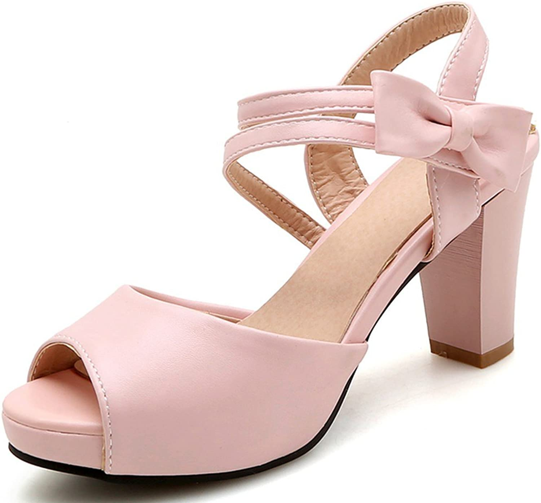 shoes Sarairis Women Chunky High Heel Bow Knot Open Toe Summer Slingback Party Wedding Sandals