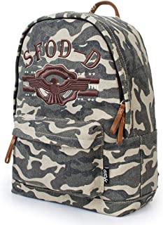 MYXMY Fashion Simple Desert Camouflage Shoulder Bag Personality Outdoor Canvas Bag Sports and Leisure Trend Wild Shoulder Bag Backpack