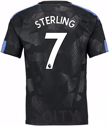 201718 Man City Third Football Soccer TShirt (Raheem Sterling 7)  Kids