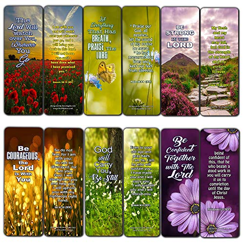 Bible Verses About Trusting God Bookmarks (12 Pack) - Collection of Bible Verses About Trusting God Beyond What Our Physical Eyes Can See