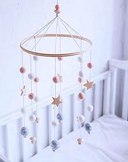 let's make Perles étoiles en Bois de Pépinière Nordique Décorations de Bébé Fille Mobiles Suspendus Accessoires de Photogr...