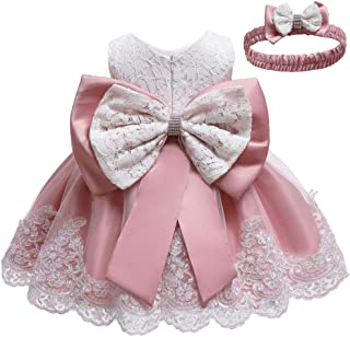Christening Lace Flower Baby Girl Dress Formal Prom Tutu Ball Gown