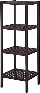 SONGMICS 100% Bamboo Bathroom Shelf Stand 4-Tier Multifunctional Storage Rack Shelving Unit 38.6 x 13 x 13 Inches Brown UBCB54C