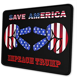 Save America Impeach Donald Trump Mouse Pad Non-Slip Rubber Gaming Mouse Pad Rectangle Mouse Pads for Computers