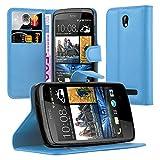 Cadorabo Hülle für HTC Desire 500 in Pastel BLAU -