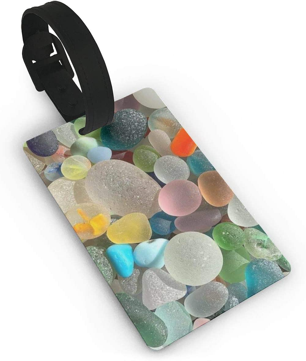 Field Rain Sea Beach Glass Stone Fashion Luggage Tag PVC Travel ID Suitcases Label For Bag