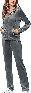 MessBebe Survêtement Femme Ensembles Sportswear Sweat Capuche Suit Pull à Capuche avec Poches + Pantalon Joggers Casual Co...