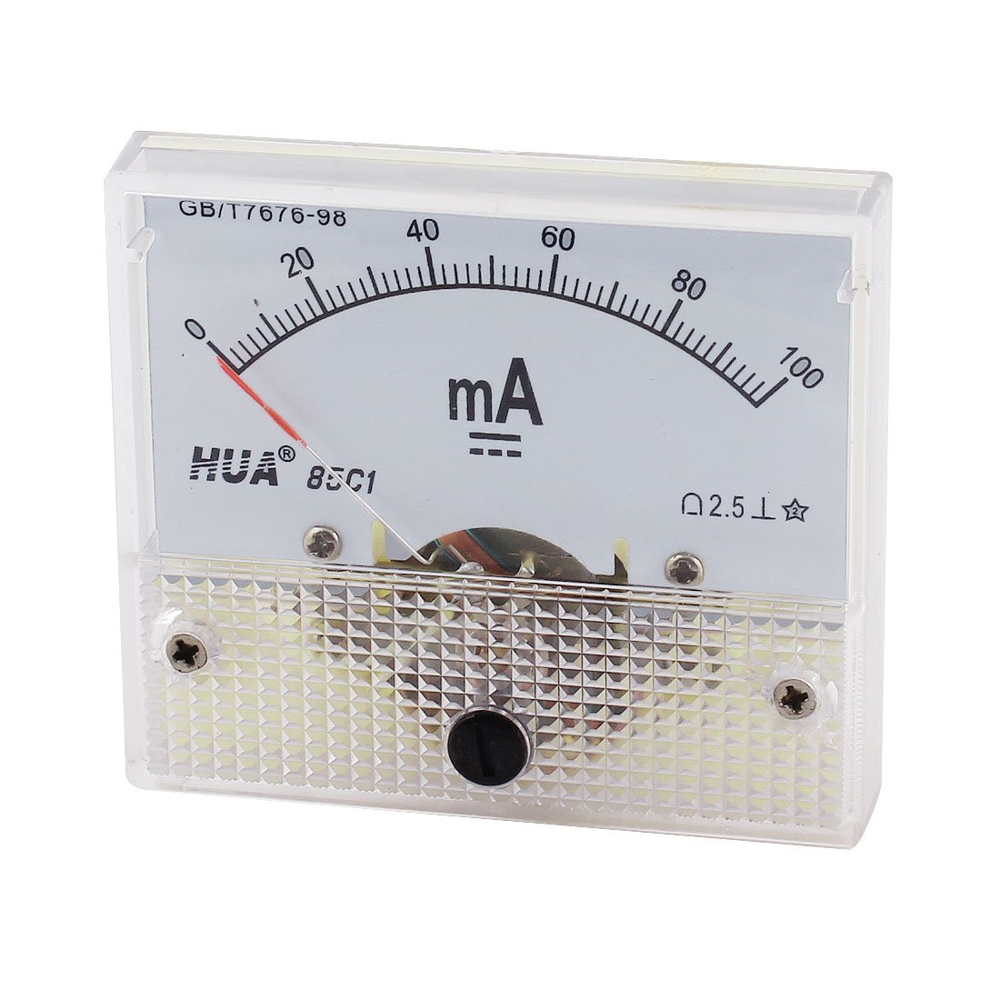 uxcell Analog Current Panel Meter 0-100mA DC Ammeter 64x49x Factory outlet service 85C1
