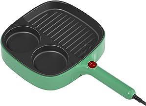 YUMEIGE Elektrische bakvorm Ei Burger Machine, Plug-in ontbijt Pannenkoek koekenpan, anti-stick gebakken ei huishoudelijke...