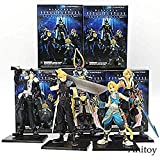 Final Fantasy 5pcs / Set Cloud Warrior of Light Figuras de acción Doll Squall PVC Figura de acción de colección Modelo de Juguete KT3704
