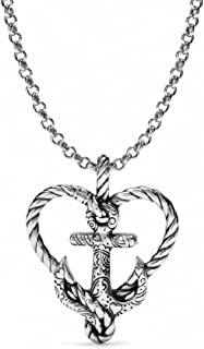 Brighton Anchored In Love Heart Silver Plated Necklace