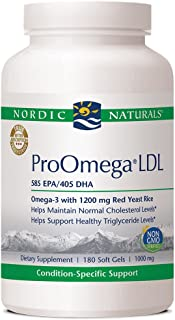 Nordic Naturals ProOmega LDL, Lemon - 180 Soft Gels - 1152 mg Omega-3 + Red Yeast Rice & CoQ10 - Supports Normal Cholester...