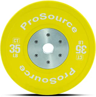 ProSource Competition Color Training Bumper Plates, Rubber with Steel Insert