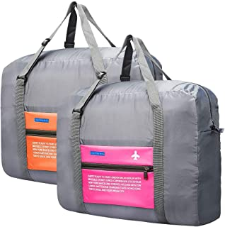Travel Duffel Bag Foldable Travel Luggage Bag 36 L Lightweight Waterproof Gym Sports Bag For Women and Men (Pack of 2)