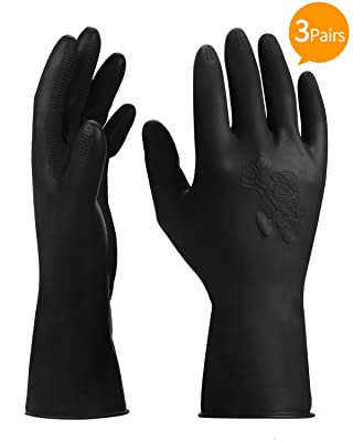 ThxToms 3 Pairs Hair Dye Gloves, Rubber Gloves