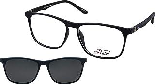 نظارة طبية باطار كامل بلون ازرق مطفي C:5 من رترو- رقم الموديل: 4019، (اس او) (مشبك)