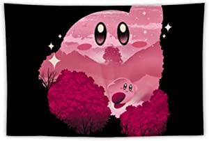"""Super Smash Bros Kirby Tapestry Wall Hanging Multiple Tapestries Art Window Treatments Valance Bedroom Decor Living Room Home Decoration 40""""×60"""""""